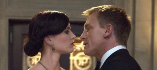 Vesper Lynd (Eva Green) and James Bond (Daniel Craig) in Casino Royale (2006)